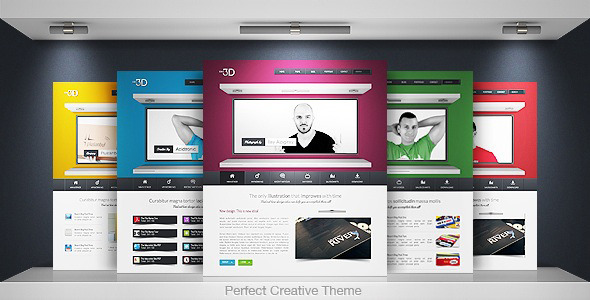 Idea 3D - Creative Portfolio Business - Ide 3D Theme