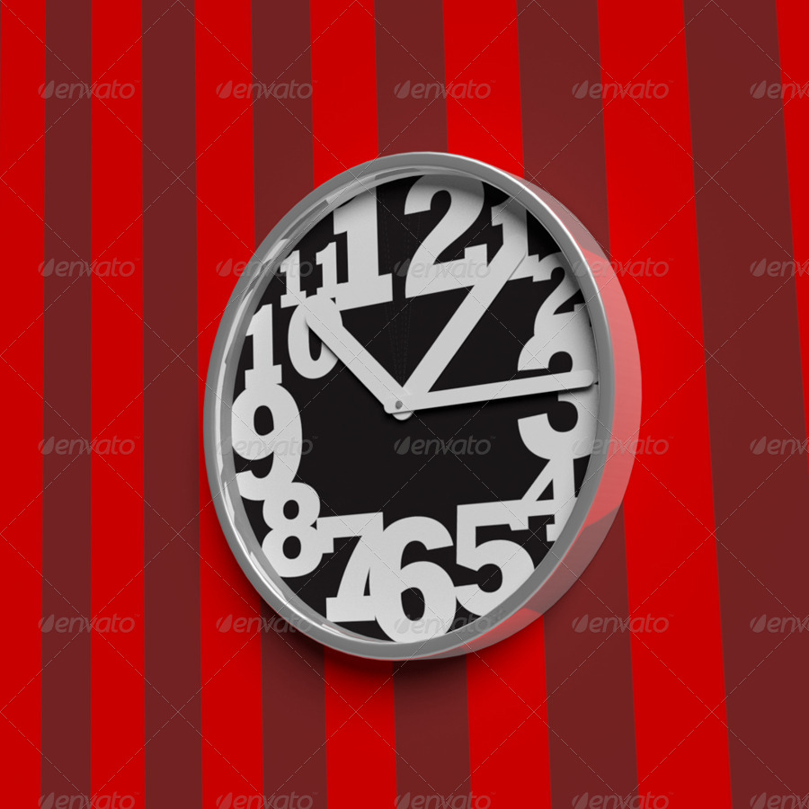 3D Object - Wall clock