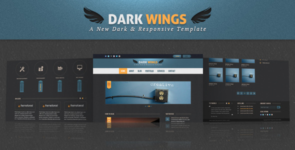 Dark Wings - Responsive Html Template