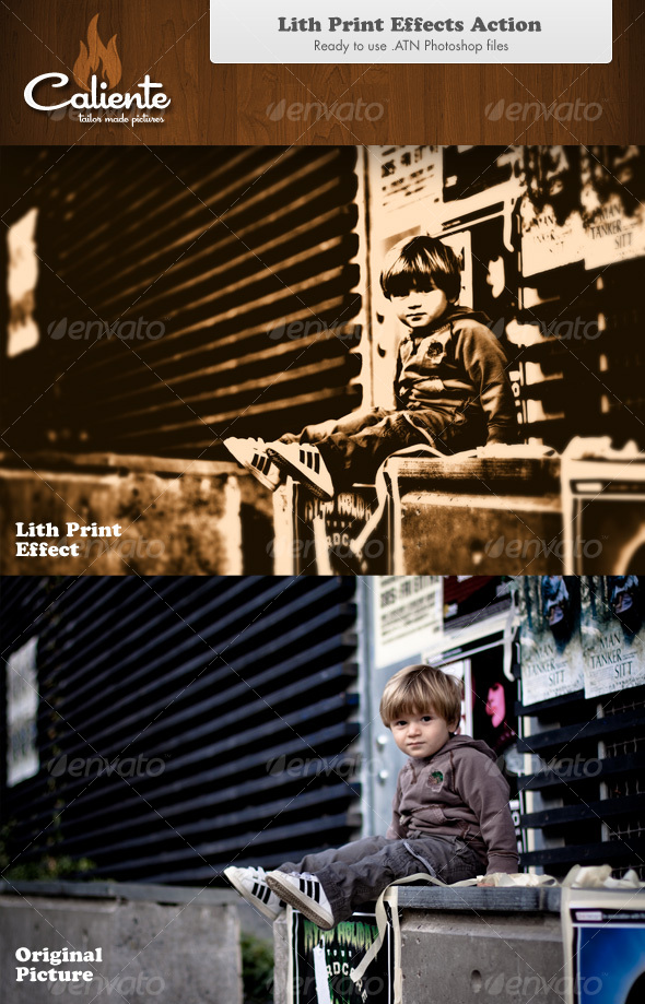 GraphicRiver Lith Print Effect Photoshop Action 82905