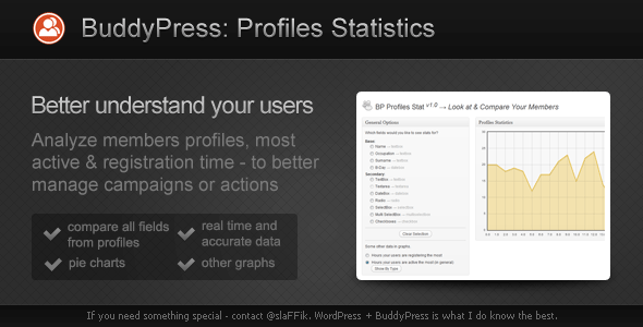 CodeCanyon BuddyPress Profiles Statistics 2215514