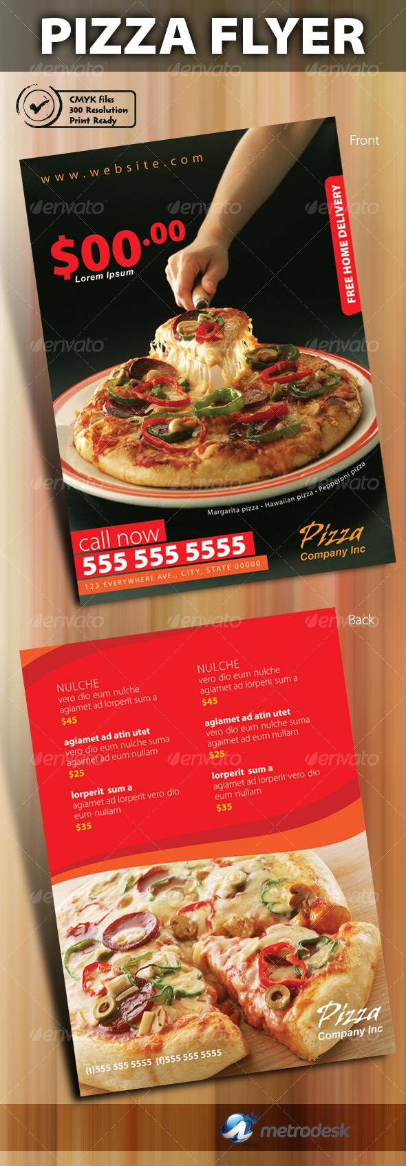 GraphicRiver Print ready pizza menu flyer 82915