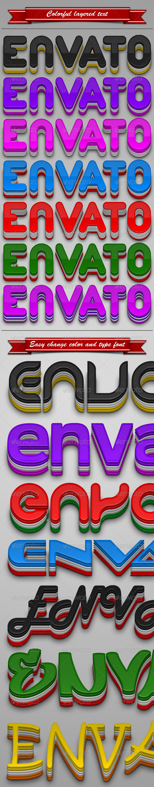 GraphicRiver Colorful Layered Text 251457
