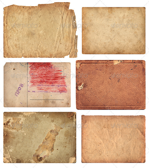 Grunge Old Paper Pieces - Miscellaneous Textures