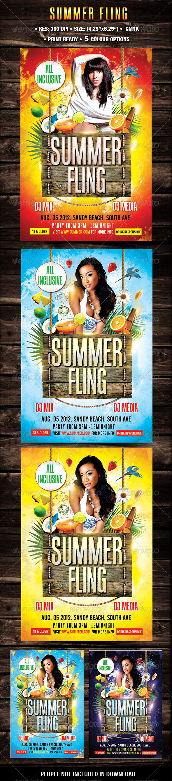 Summer Fling Template - Flyers Print Templates
