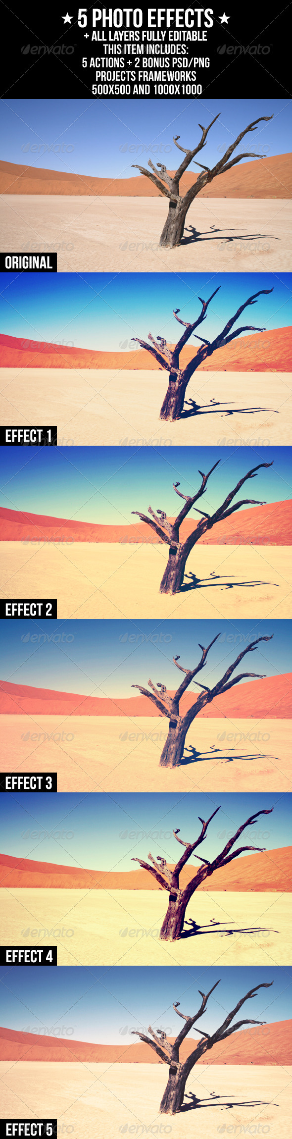 5 Photo Effects - Photo Effects Actions