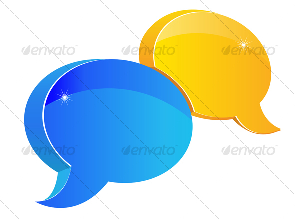 GraphicRiver Speech or chat symbol 83429
