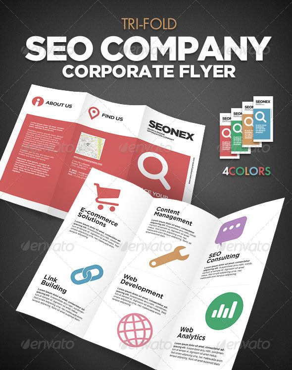 Tri Fold SEO Flayer - Corporate Flyers