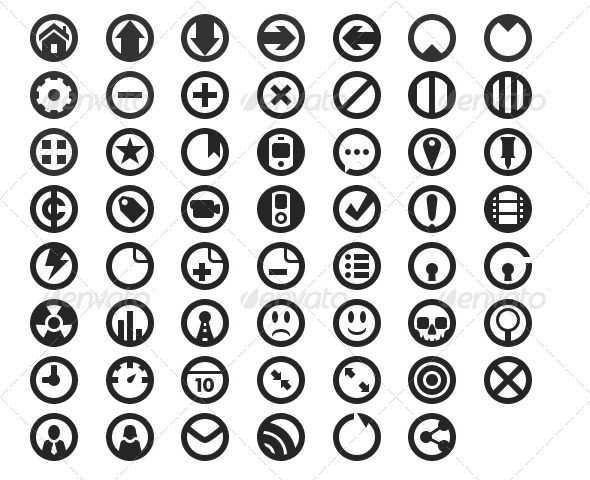 Concentric Circles Web Icons