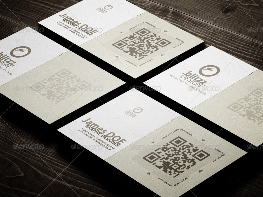 Elegant Corporate QR Business Card