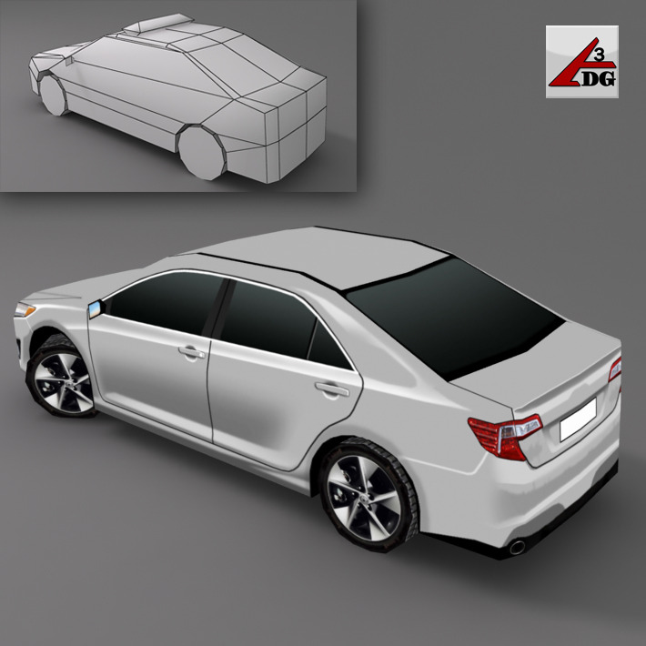 3DOcean Toyota Camry 2010 3D Models -  Vehicles  Land  Cars 2227605