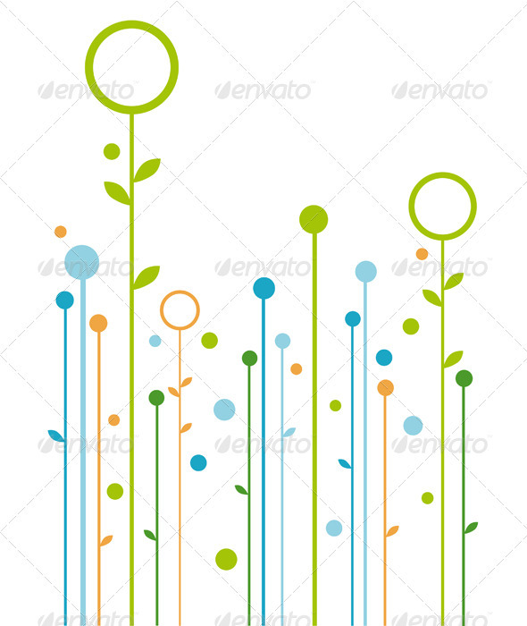 Abstract Floral Design, Vector - Backgrounds Decorative