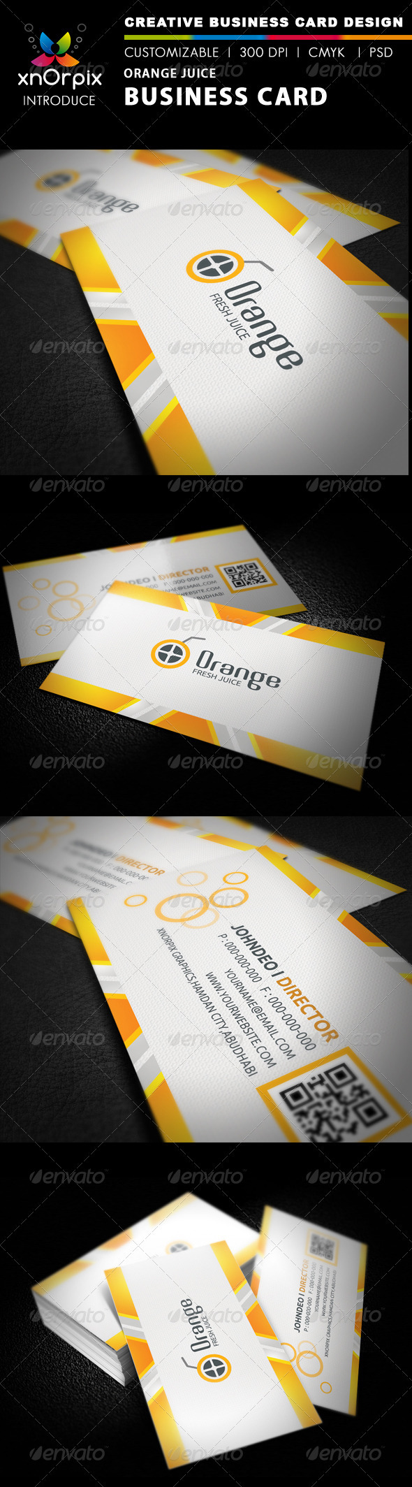 Orange Juice Business Card - Business Cards Print Templates