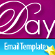 Valentines Day Clean Tri-color Email Templates  Free Download
