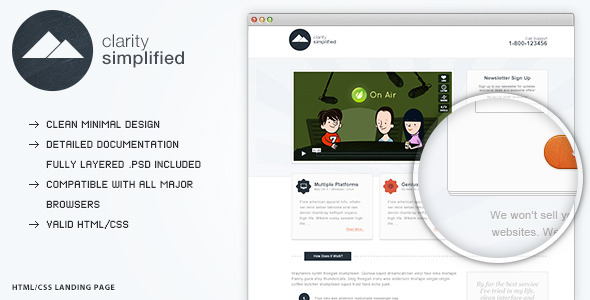 Clarity Simplified - Landing Page
