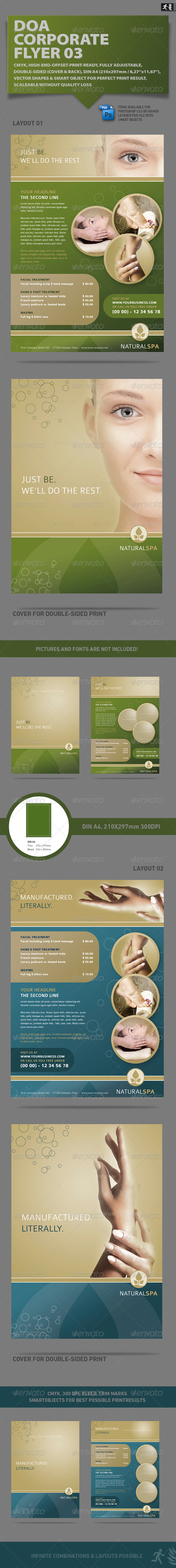 GraphicRiver DOA Natural Spa Corporate Flyer 2238805