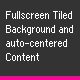 Fullscreen tiled Background and centered Content - ActiveDen Item for Sale