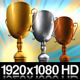 First Second And Third Place Trophies With Alpha - VideoHive Item for Sale