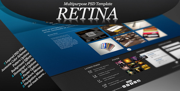 ThemeForest Retina Multipurpose PSD Template 2229320