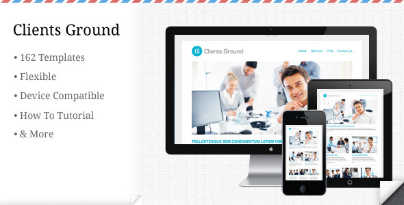 Clients Ground - Corporate Flexible E-mail Theme - Email Templates Marketing