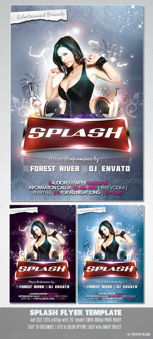 GraphicRiver Splash Flyer Template 2247426