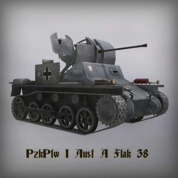 3DOcean PzKpfw I Ausf A Flak 38 2247784