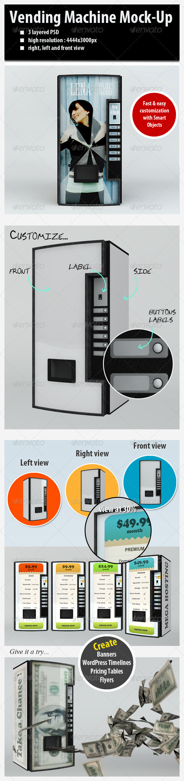 GraphicRiver Customizable Vending Machine Mock-Up 2248241