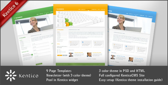 ThemeForest IT Business for KenticoCMS 102223