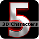 Awesome 3D Characters 设计-Graphicriver中文最全的素材分享平台