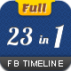 Facebook Timeline Cover FULL 23 in 1 - GraphicRiver Item for Sale