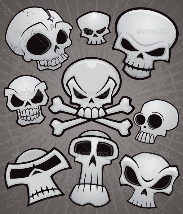 GraphicRiver Cartoon Skull Collection 2249964