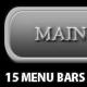 15 editable menu navigation + 6 search bars! - GraphicRiver Item for Sale