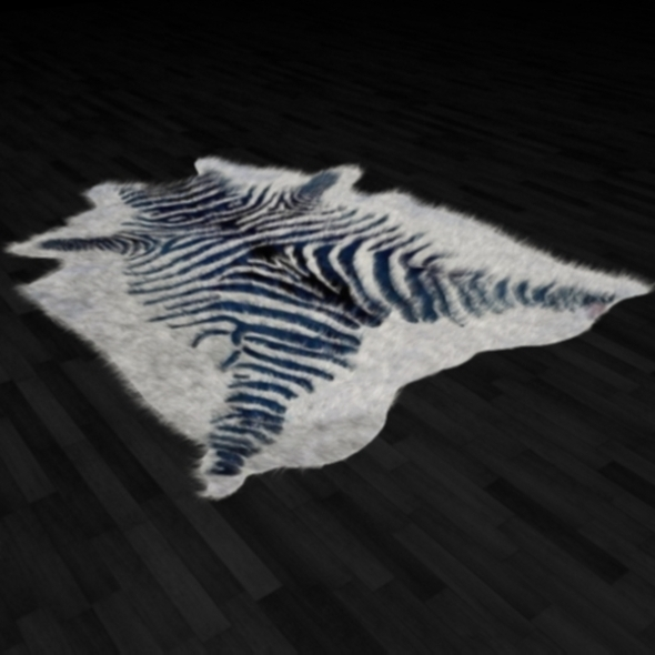 3DOcean Zebra Skin Fur Rug 255210