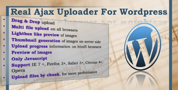 CodeCanyon Real Ajax Uploader for Wordpress 2251323