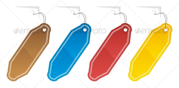 Set of color labels - Decorative Symbols Decorative
