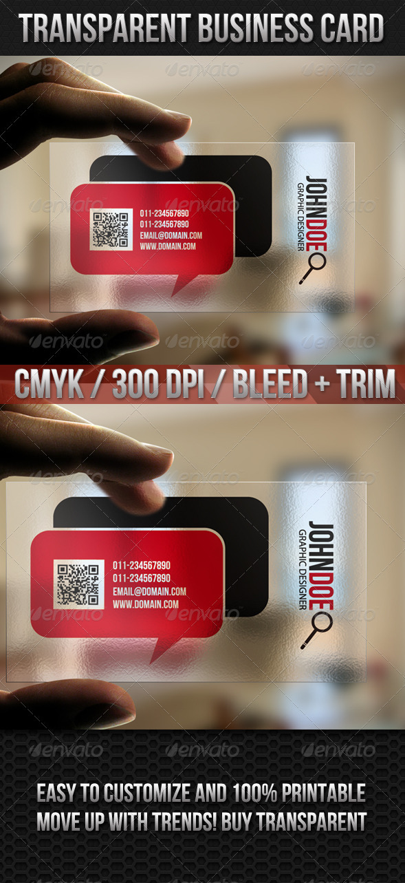 GraphicRiver Transparent Quick Responsive Business Card 2255942