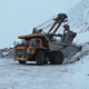 Dump Truck Loaded With An Excavator - VideoHive Item for Sale