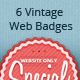 6 Colorful Vintage Web Badges - GraphicRiver Item for Sale