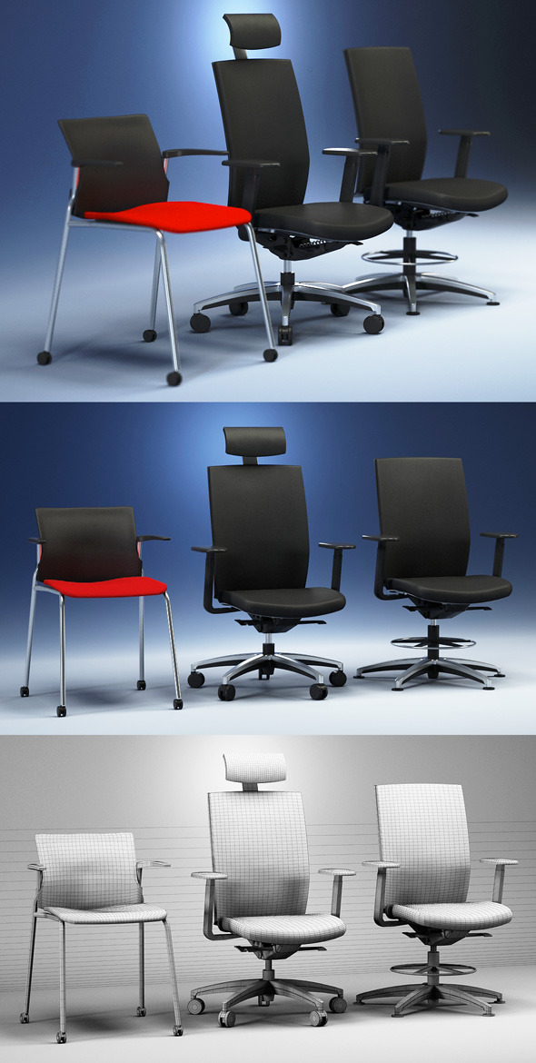 3DOcean Quality 3dmodel of modern chairs Cato Kloeber 2258002