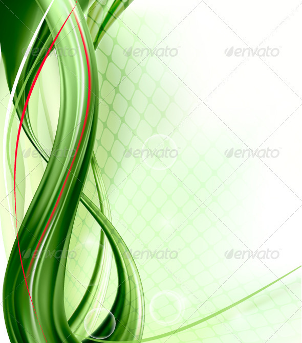 Business Elegant Abstract Green Background - Vector - Backgrounds Decorative