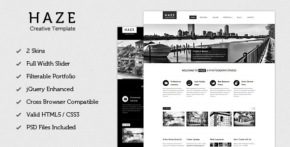 ThemeForest Haze Beautiful HTML Template 2261109