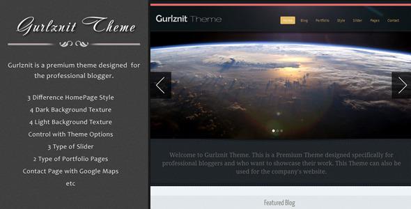 Gurlznit - Blog and Portfolio Theme - ThemeForest Item for Sale