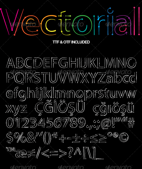 GraphicRiver Vectorial Design Font 2261644