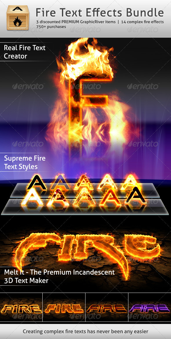 Fire Text Effects Bundle - Text Effects Styles