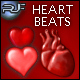 9 animated beating hearts with heart beat sound - ActiveDen Item for Sale