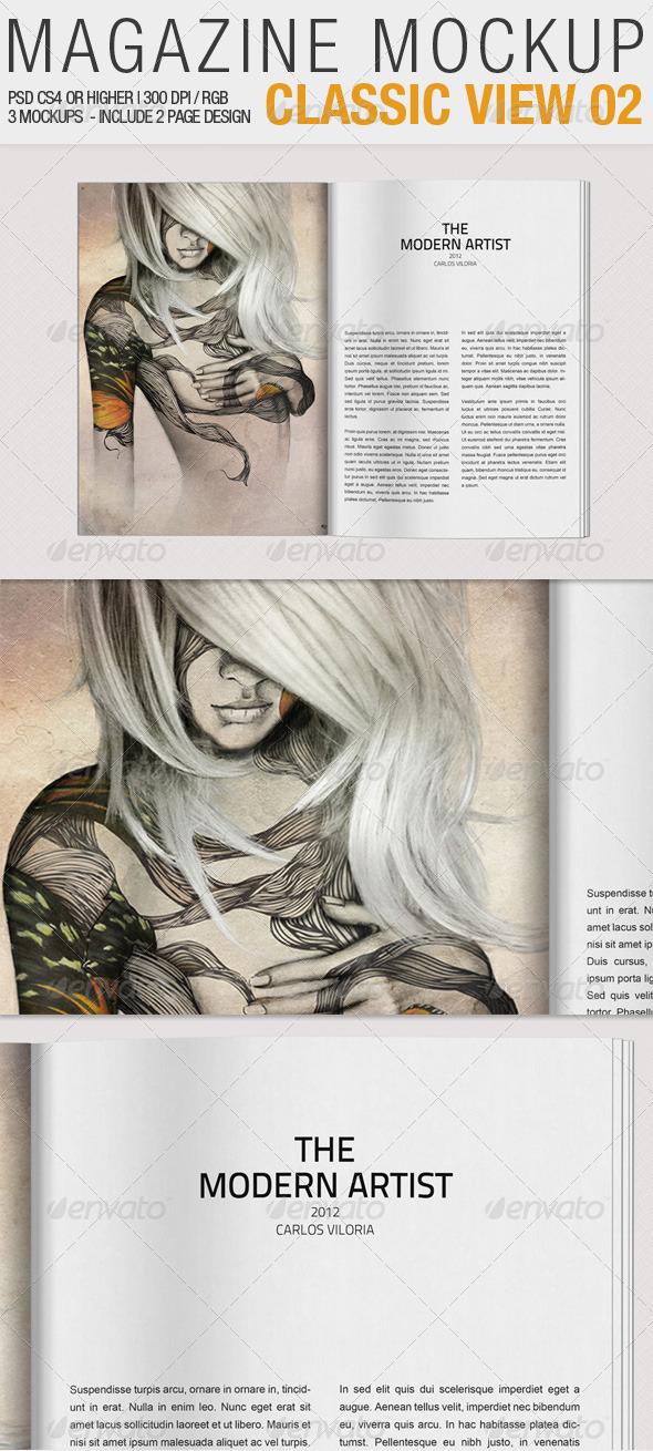 GraphicRiver Magazine Mockup Classic View 02 2262767