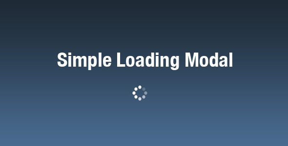 Simple Loading Modal - CodeCanyon Item for Sale