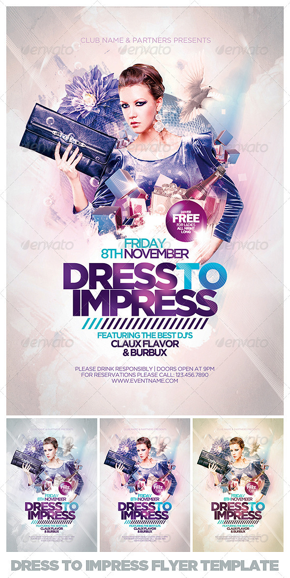 Dress To Impress Flyer Template - Clubs & Parties Events