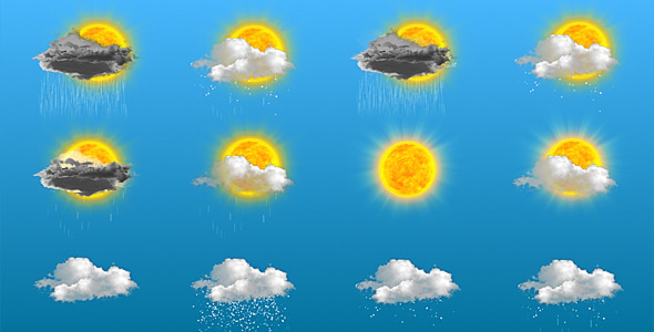 After Effects Project - VideoHive 24 Animated Weather Icons 2274115