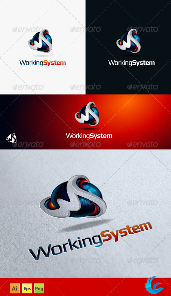 WS Logo - 3d Abstract